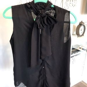 Women's Blouse With Bow Tie
